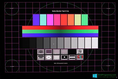 Скриншот программы Nokia Monitor Test для Windows 8