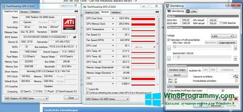 Скриншот программы ATI Tray Tools для Windows 8