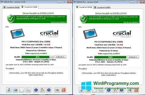 Скриншот программы SSDLife для Windows 8