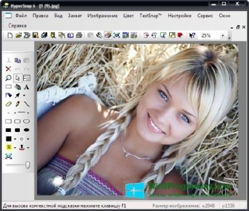 Скриншот программы HyperSnap для Windows 8