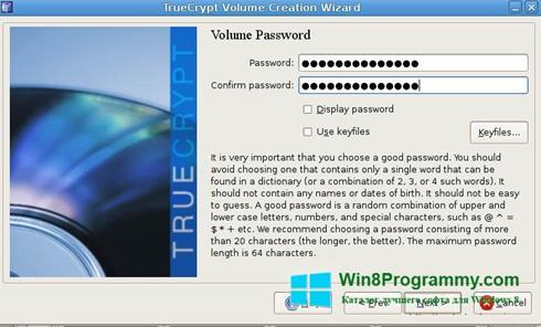 Скриншот программы TrueCrypt для Windows 8