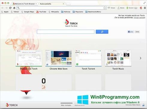 Скриншот программы Torch Browser для Windows 8