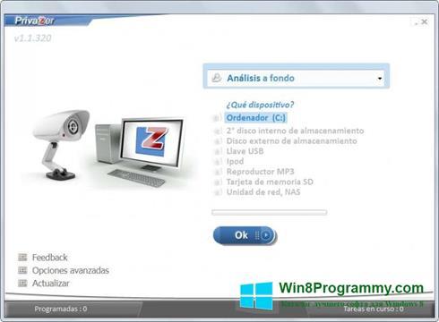 Скриншот программы PrivaZer для Windows 8