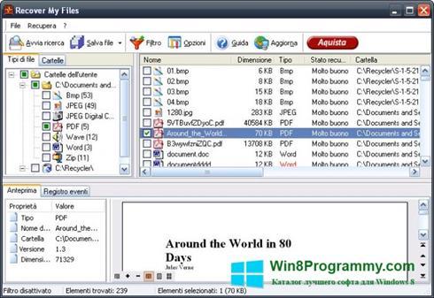 Скриншот программы Recover My Files для Windows 8