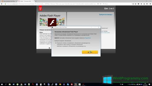 Скриншот программы Flash Media Player для Windows 8