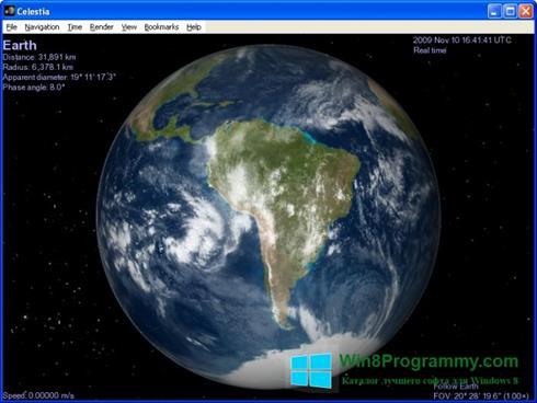 Скриншот программы Celestia для Windows 8