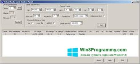 Скриншот программы Virtual Audio Cable для Windows 8