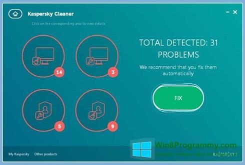 Скриншот программы Kaspersky Cleaner для Windows 8
