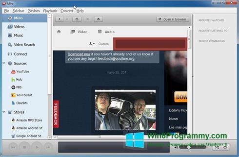 Скриншот программы Miro для Windows 8