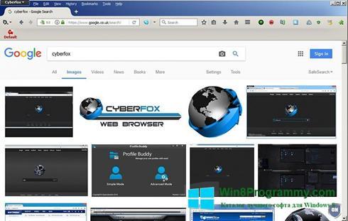 Скриншот программы Cyberfox для Windows 8