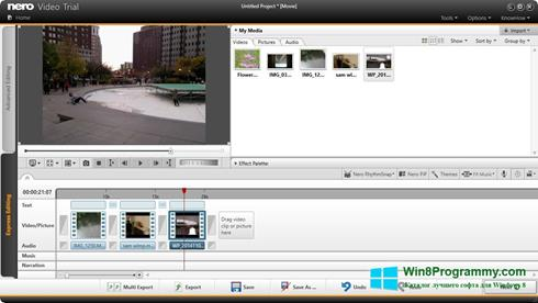 Скриншот программы Nero Video для Windows 8