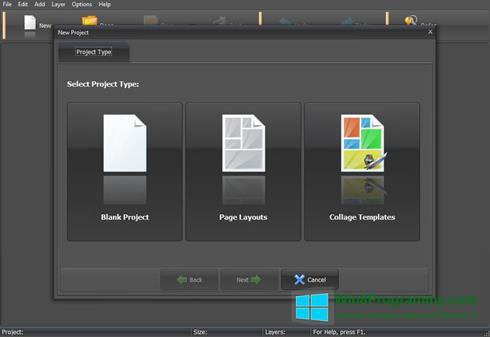 Скриншот программы PhotoMix Collage для Windows 8