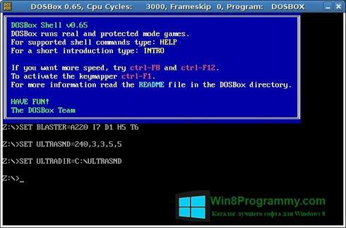 Скриншот программы DOSBox для Windows 8