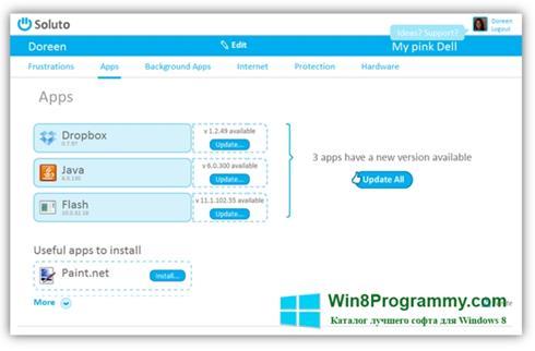 Скриншот программы Soluto для Windows 8