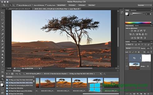 Скриншот программы Adobe Photoshop для Windows 8