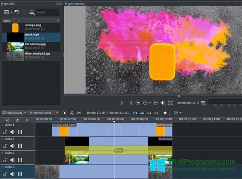 Скриншот программы Kdenlive для Windows 8
