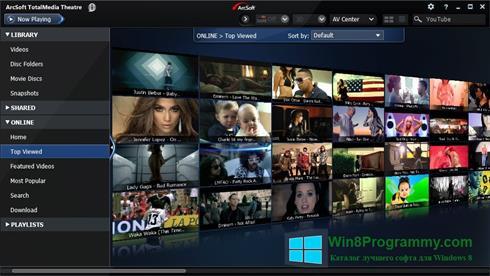 Скриншот программы ArcSoft TotalMedia Theatre для Windows 8