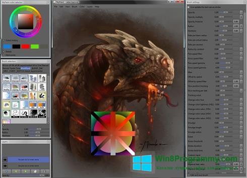 Скриншот программы MyPaint для Windows 8