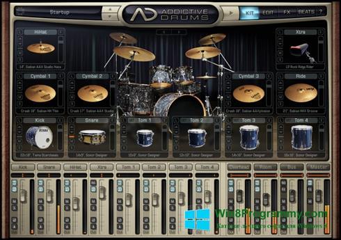 Скриншот программы Addictive Drums для Windows 8