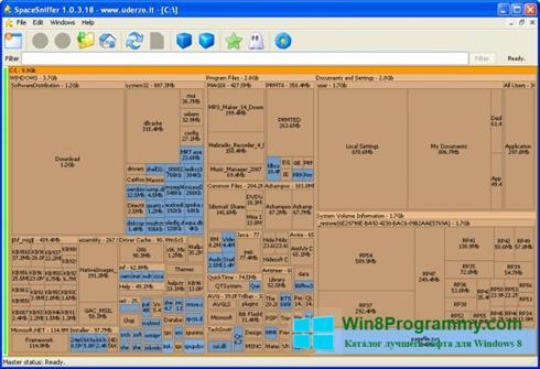 Скриншот программы SpaceSniffer для Windows 8