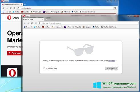 Скриншот программы Opera Next для Windows 8