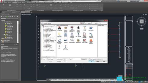 Скриншот программы AutoCAD Electrical для Windows 8