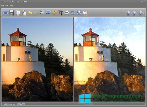 Скриншот программы FotoSketcher для Windows 8