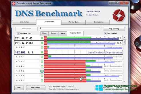 Скриншот программы DNS Benchmark для Windows 8