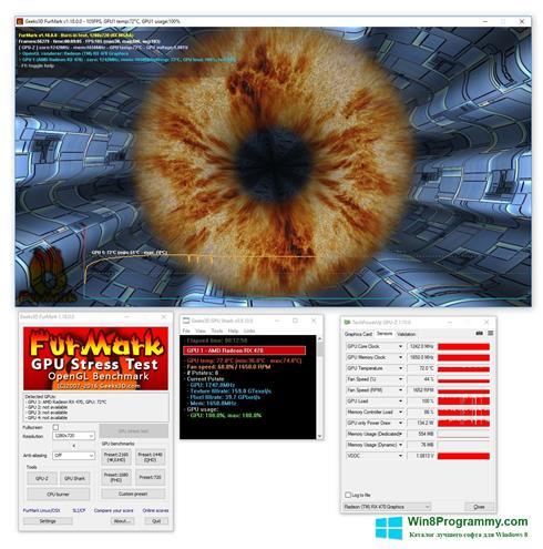 Скриншот программы FurMark для Windows 8
