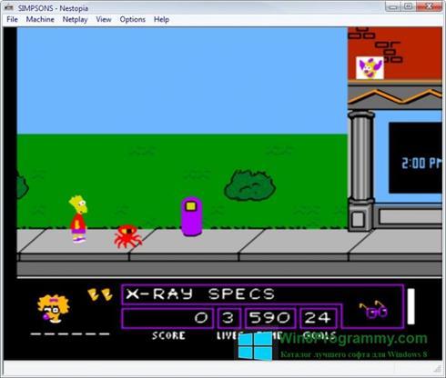 Скриншот программы Nestopia для Windows 8