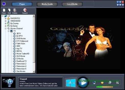 Скриншот программы Online TV Live для Windows 8