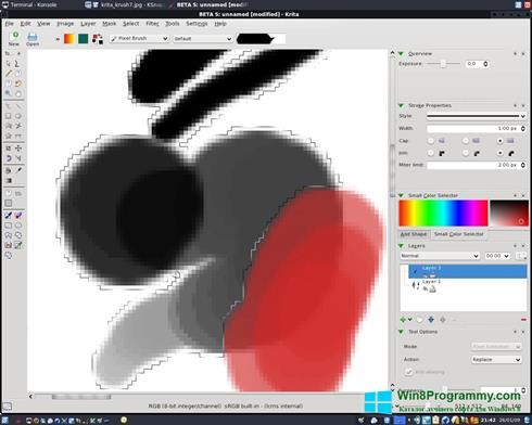 Скриншот программы Krita для Windows 8