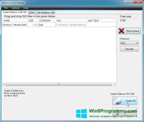 Скриншот программы XBoot для Windows 8