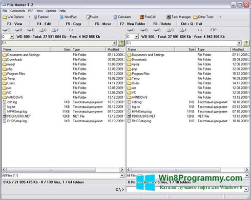 Скриншот программы File Master для Windows 8