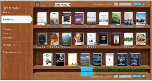 Скриншот программы Bookshelf для Windows 8