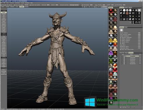 Скриншот программы 3D-Coat для Windows 8