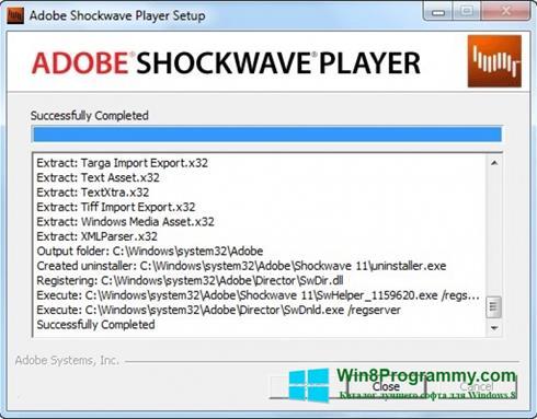 Скриншот программы Adobe Shockwave Player для Windows 8