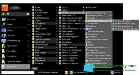 Скриншот программы Start Menu X для Windows 8