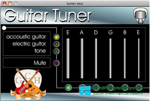 Скриншот программы Guitar Tuner для Windows 8