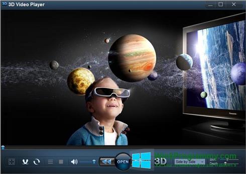 Скриншот программы 3D Video Player для Windows 8