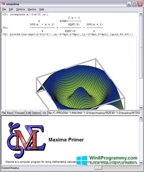 Скриншот программы Maxima для Windows 8