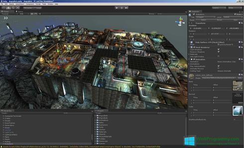 Скриншот программы Unity 3D для Windows 8
