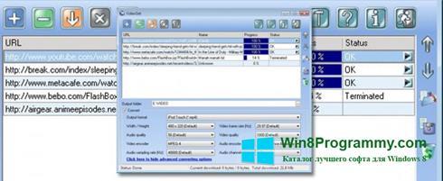 Скриншот программы VideoGet для Windows 8