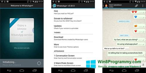 Скриншот программы WhatsApp Plus для Windows 8