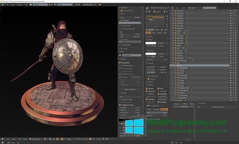 Скриншот программы Blender для Windows 8