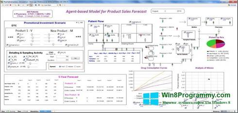 Скриншот программы AnyLogic для Windows 8