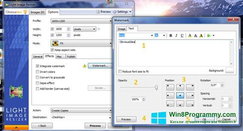 Скриншот программы Light Image Resizer для Windows 8