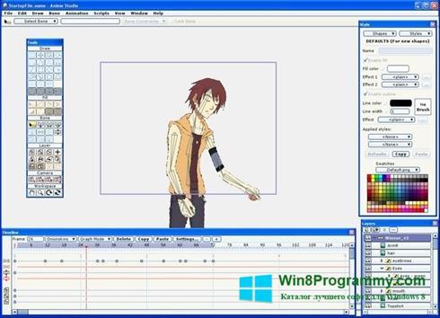 Скриншот программы Anime Studio для Windows 8