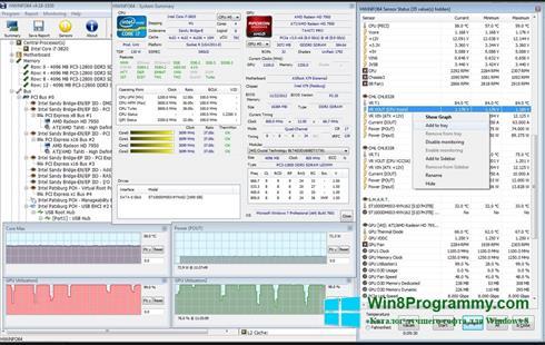 Скриншот программы HWiNFO для Windows 8