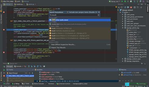 Скриншот программы PyCharm для Windows 8
